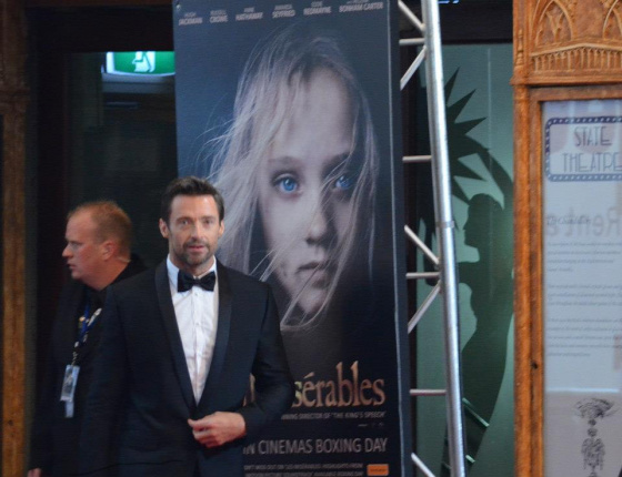 Hugh Jackman Russell Crowe Sydney State theatre Boxing day Les Miserables