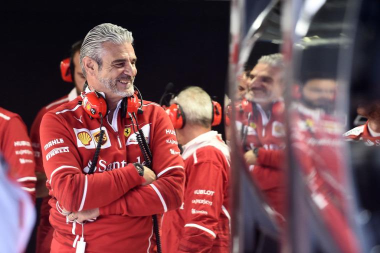 F1 Forma-1 Ferrari Maurizio Arrivabene Charles Leclerc Antonio Giovinazzi