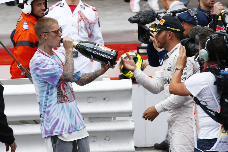 F1 Forma-1 Lewis Hamilton Justin Bieber Mercedes Monacói Nagydíj