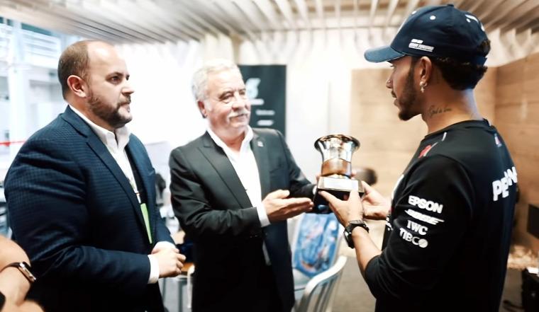 F1 Forma-1 Lewis Hamilton Juan Manuel Fangio Mercedes Brazil Nagydíj