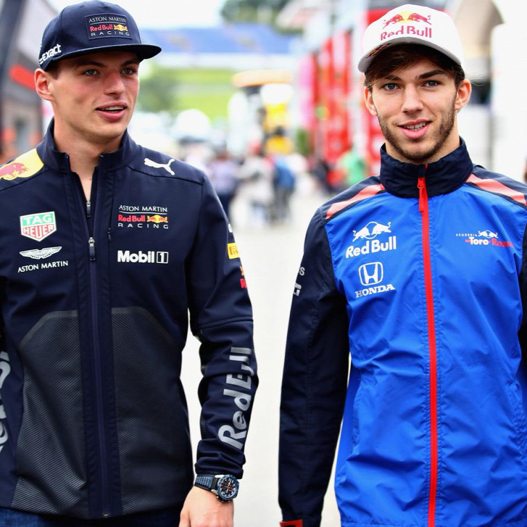 F1 Forma-1 Pierre Gasly Max Verstappen Red Bull Toro Rosso