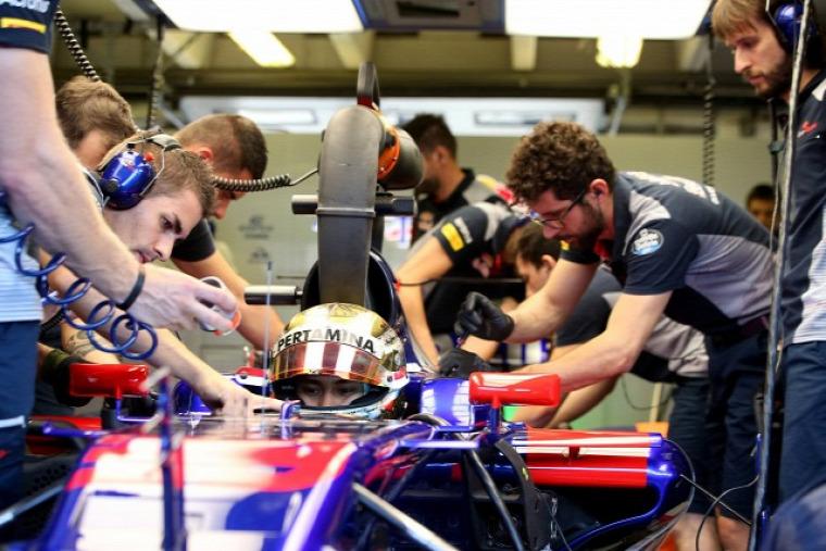 F1 Forma-1 Sean Gelael Toro Rosso Belga Nagydíj
