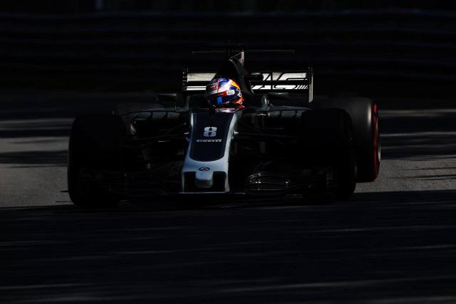 F1 Forma-1 Romain Grosjean Haas F1 Team Azerbajdzsáni Nagydíj Günther Steiner Kevin Magnussen