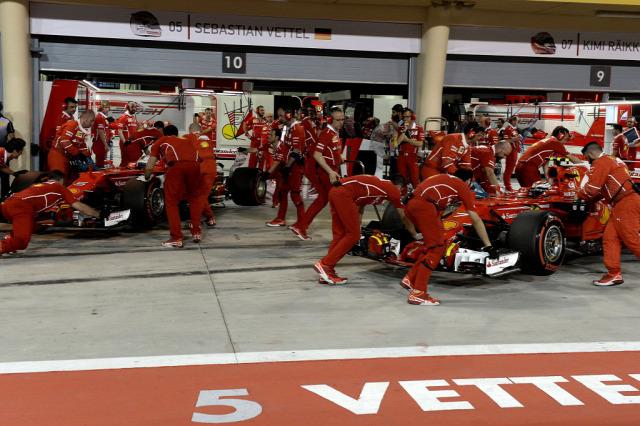 F1 Forma-1 Kimi Räikkönen Sebastian Vettel Bahreini Nagydíj Ferrari