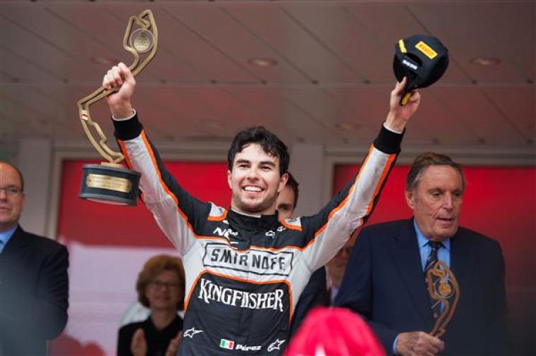 F1 Force India Sergio Perez Monacói Nagydíj