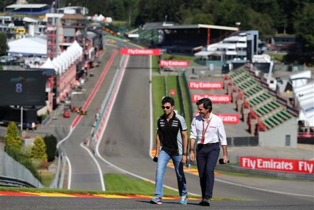 F1 Forma-1 Sergio Perez Force India Belga Nagydíj