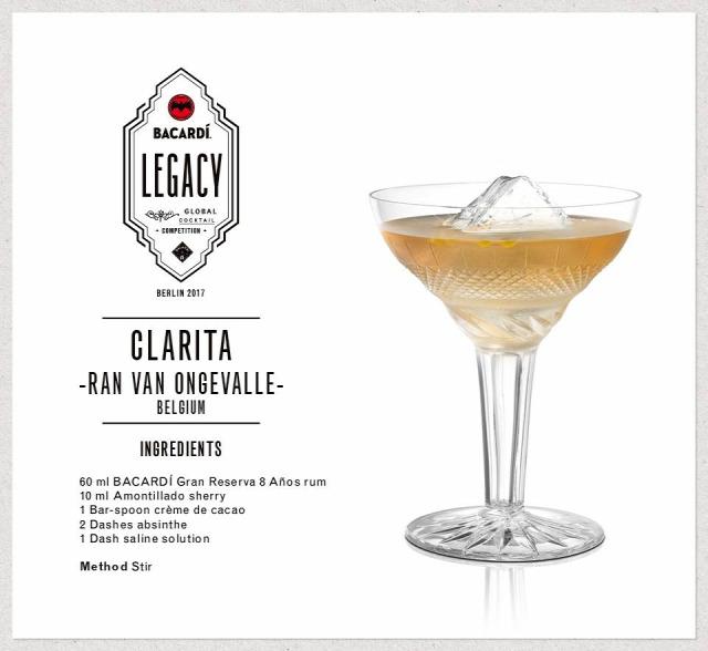 receptúra clarita ran van ongevalle rum bacardi