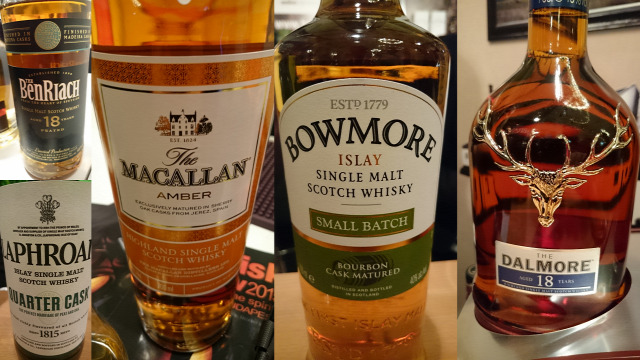 whisk(e)y scotch whisky benriach macallan dalmore bowmore laphroaig