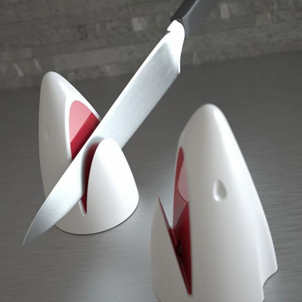 hétvégi dizájn cápa késélező