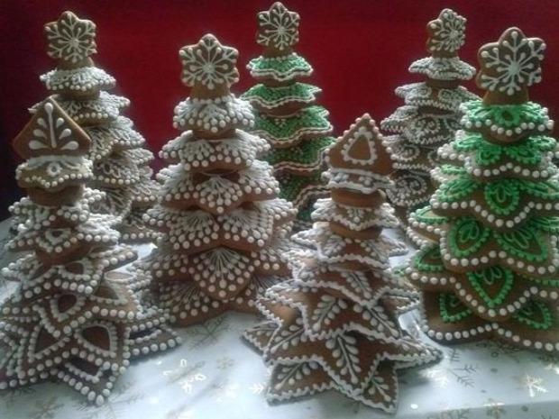 dizájn karácsonyfa ehető asztaldísz