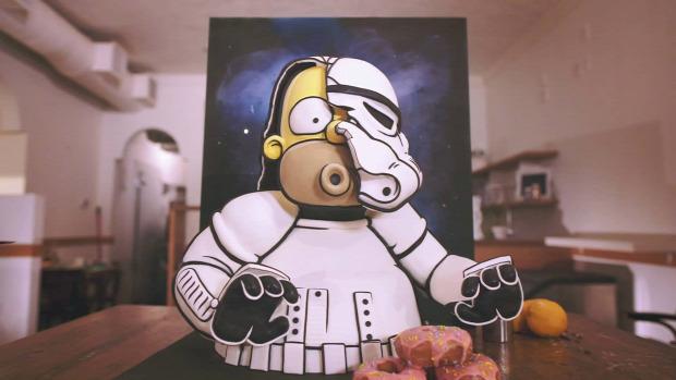 videó dizájn Star Wars SW torta Simpson család Homer