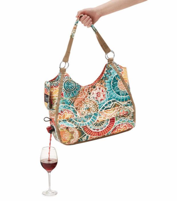 Hétvégi dizájn bor táska
