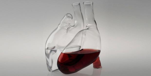 hétvégi dizájn szív bor levegőztető