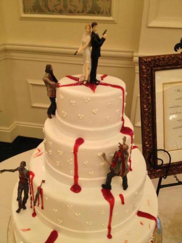 Hétvégi dizájn torta zombi apokalipszis