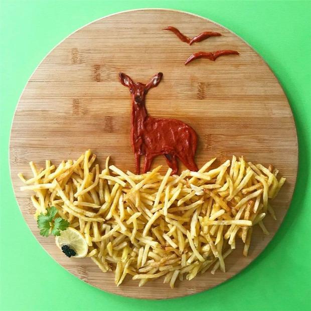 dizájn étel műalkotás