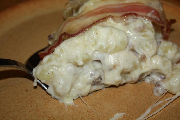 recept főétel melegétel tészta gnocci bacon camembert