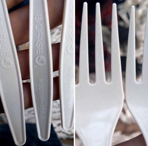 dizájn eldobható evőeszköz környezetbarát avokádó