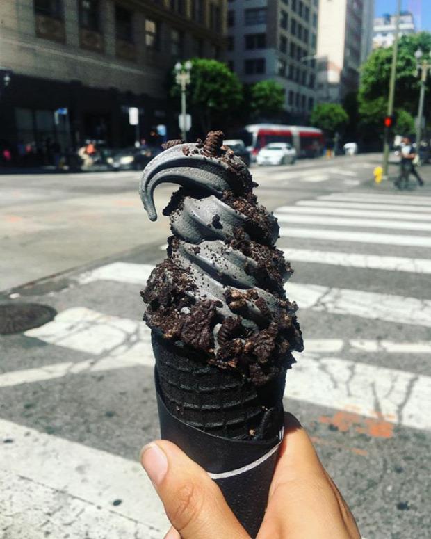 Hétvégi dizájn fagylalt fekete