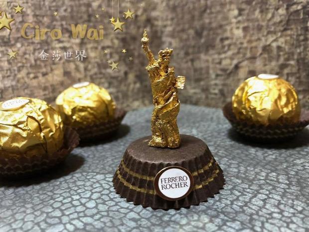 csoki papir szobor dizájn