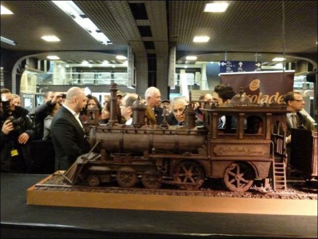dizájn csokoládé vonat