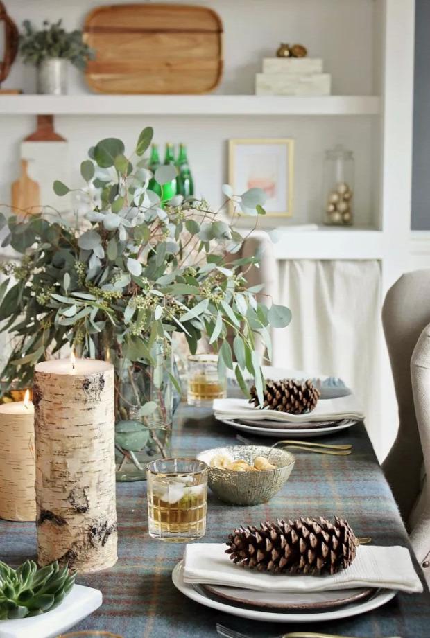 karácsony asztal dekoráció hétvégi dizájn