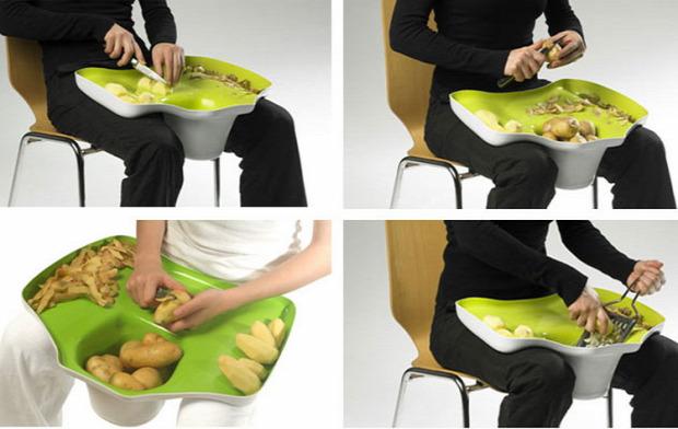 Hétvégi dizájn tálca öl zöldség
