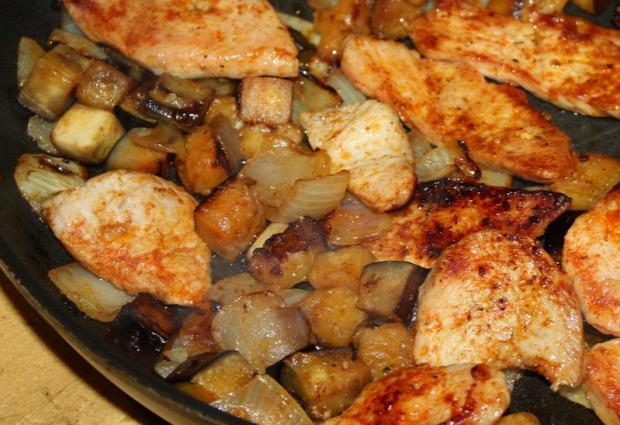 Recept főétel melegétel húsétel csirke padlizsán