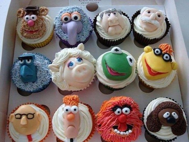 Hétvégi dizájn muffin muppet