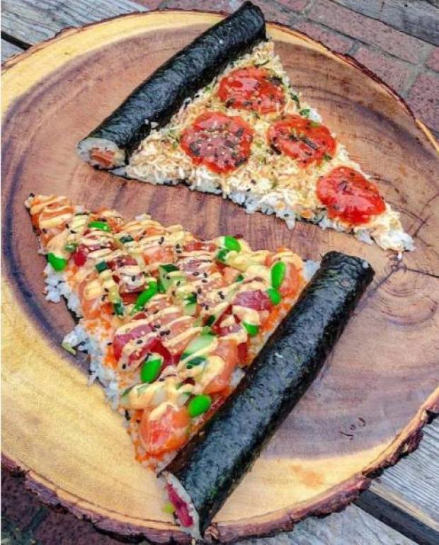 hétvégi dizájn pizza
