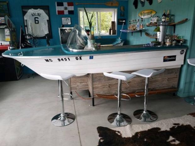 Hétvégi dizájn pult bárpult csónak