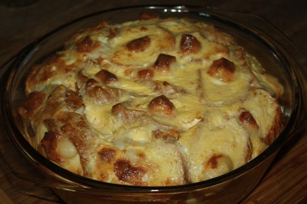 recept melegétel főtt étel felfújt tojás sajt kifli ementáli