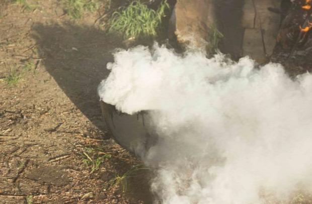 bögrács főzés tűz baleset