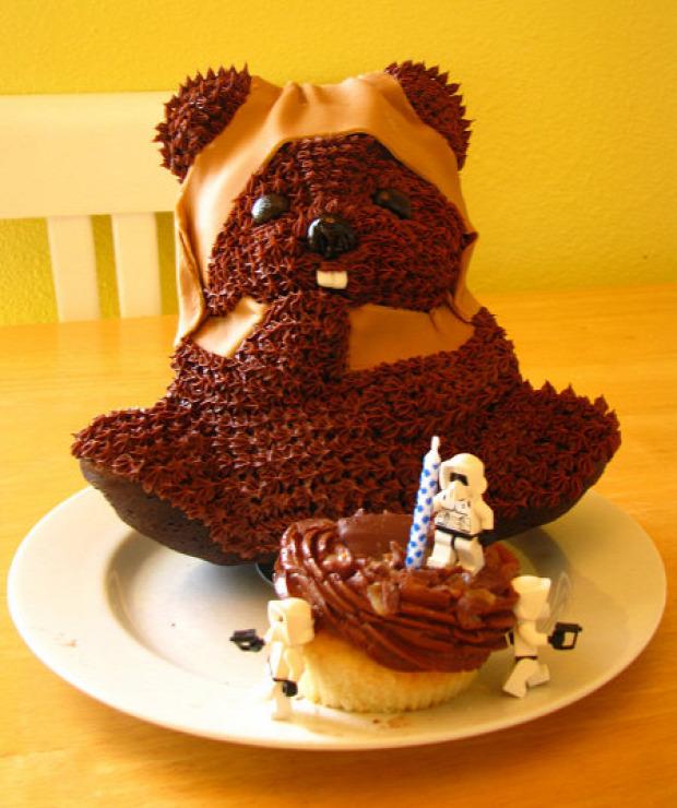 Hétvégi dizájn torta Ewok star Wars SW