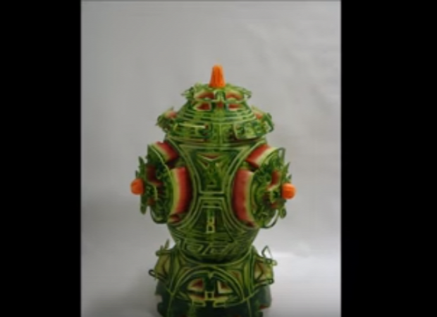 videó dizájn dinnye faragás 3D