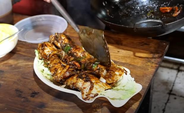 video street food garnéla  Indonézia