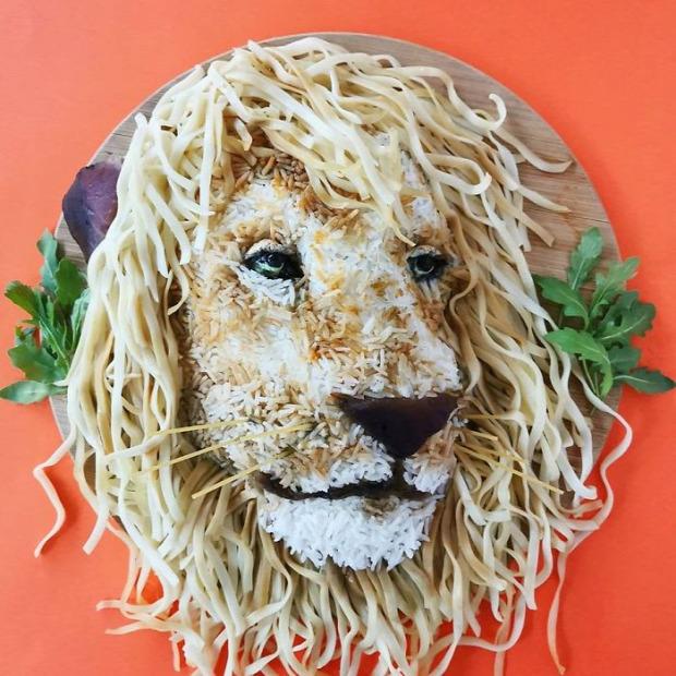 dizájn művészet étel tányér állat