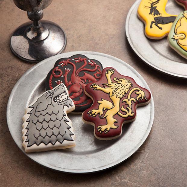Hétvégi dizájn kivágó forma süti keksz Trónok harca