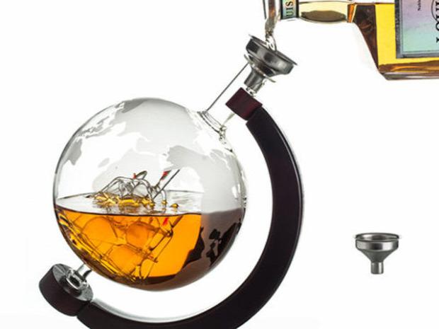 Hétvégi dizájn Földgömb whisky dekantáló