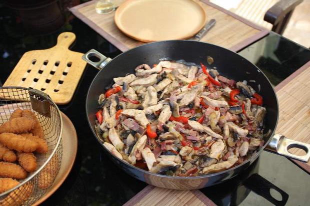 recept főétel melegétel húsétel tokány gomba kápia paprika sertés