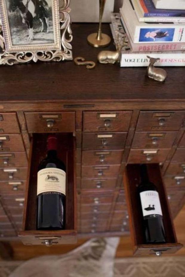 hétvégi dizájn szekrény bor tartó