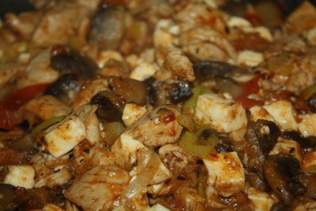 recept főétel melegétel húsétel csirke grillsajt zöldség paradicsom