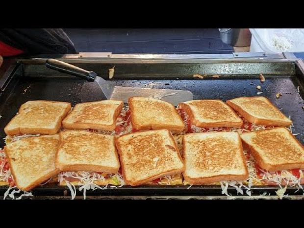 video street food korea szendvics