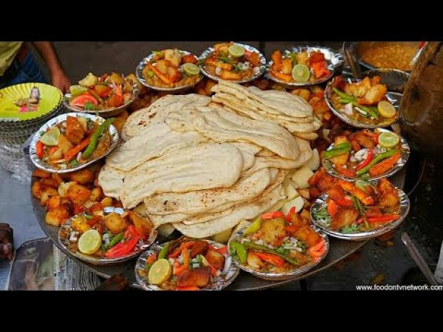 videó street food India Delhi