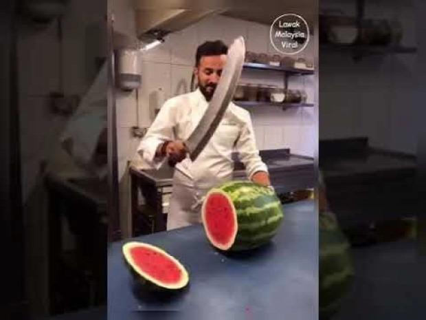 videó gyümölcsű vágás faragás