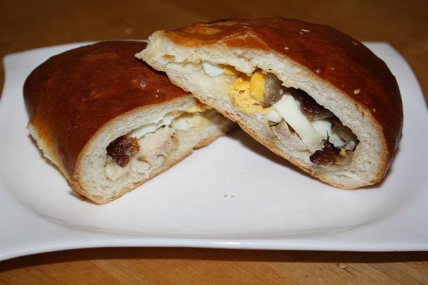 Recept tészta táska sonka tojás torma húsvét