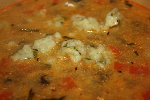 recept főétel melegétel leves levesbetét galuska medvehagyma