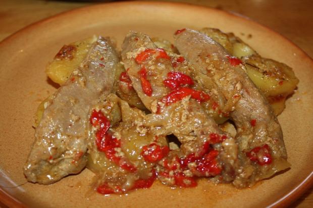 recept főétel melegétel húsétel kacsa mell filé tej paprika