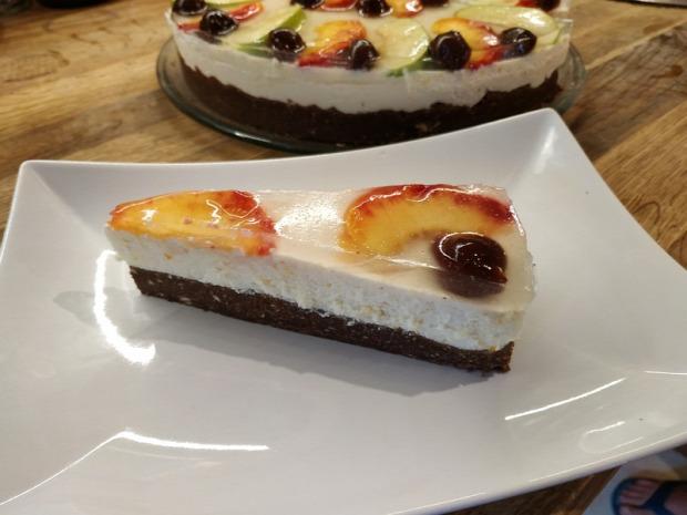 recept édesség torta sütés nélkül túró narancs keksz gyümölcs zselatin