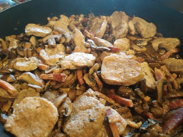 recept főétel húsétel soka gomba