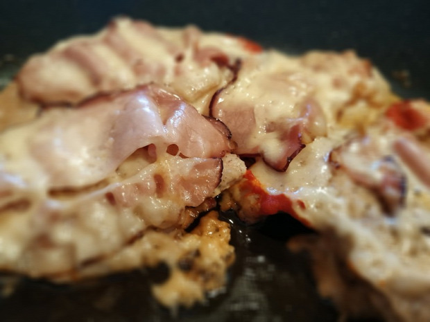 recept főétel húsétel melegétel sonka sajt csirke